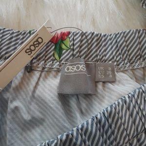 ASOS Tops - 🌴NWT Asos Ruffle Square Neck Stripe Floral Top